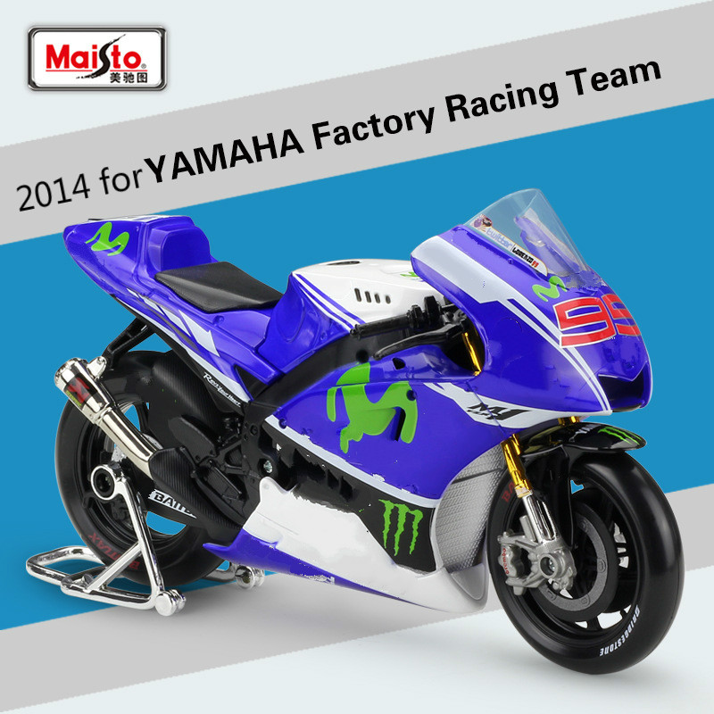 Maisto for YAMAHA Factory Racing Team 2014 Motorcycle Alloy Model Speed Wheels Auto Diecast Scooter Motorbike Motor Model 1:10Maisto for YAMAHA Factory Racing Team 2014 Motorcycle Alloy Model Speed Wheels Auto Diecast Scooter Motorbike Motor Model 1:10