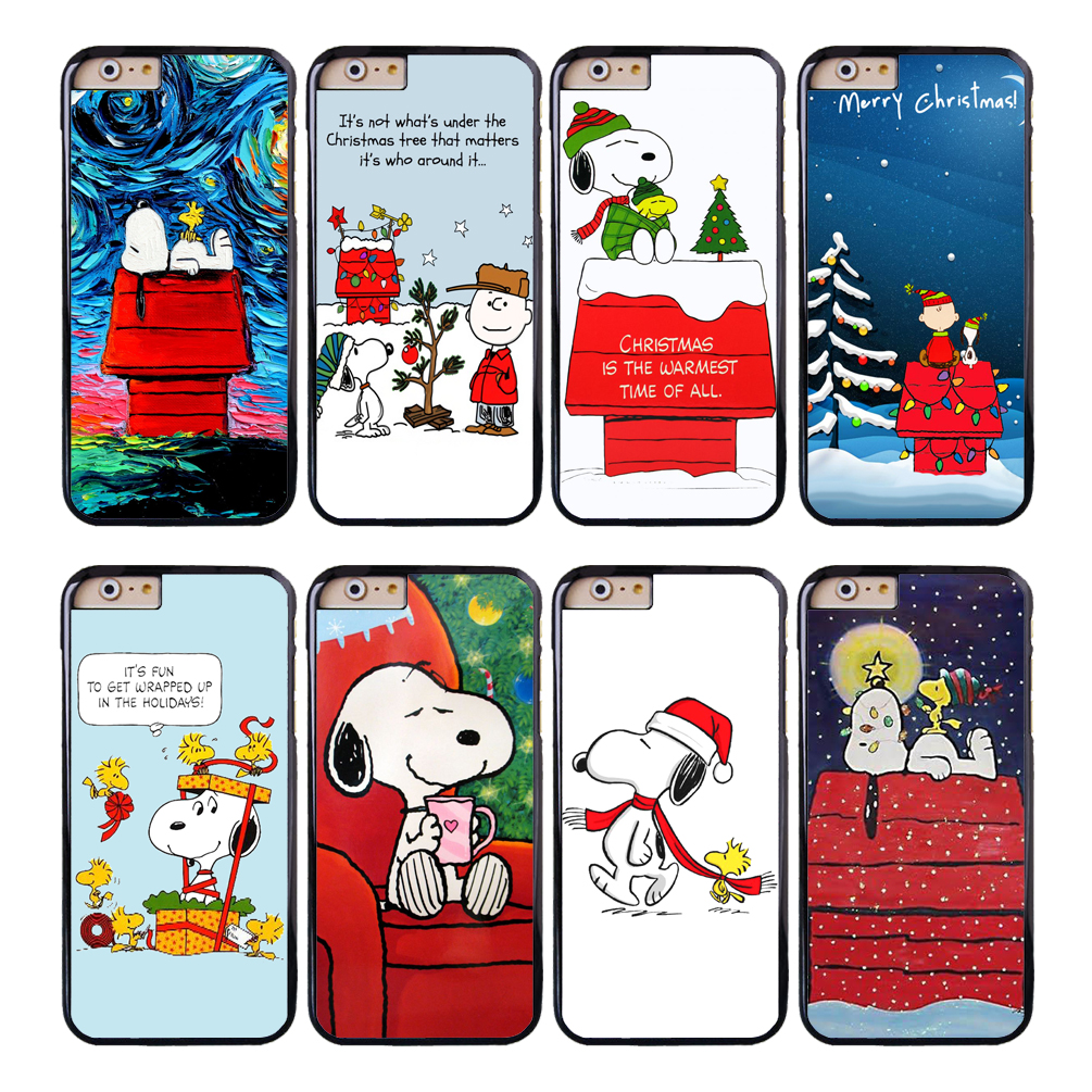 Coque Cartoon Christmas Dog Capa Phone Cases for iPhone X 8 8Plus 7 6 6S 7 Plus SE 5S 5C 5 4S 4 Case for iPod Touch 6 5 Cover.
