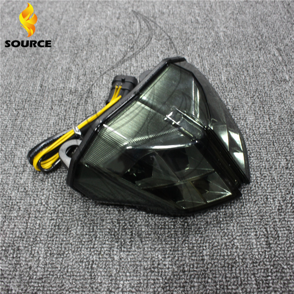 ФОТО 2015 new products Motorcycle accessories smoked Integrated LED Tail Light fit For Ducati Streetfighter 1100      2012 2013 2014