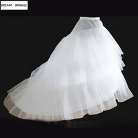 In stock Cheap Petticoats Mermaid Hoops Bride Petticoat Underskirt Crinolines Organza Hoops Slips 2019