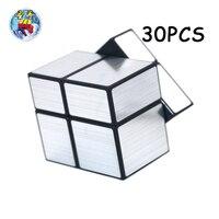 30 шт. ShengShou серебряное зеркало Cubo magico с глянцевым покрытием магический куб скорость Твист Головоломка Нео Куб Классические игрушки для дете
