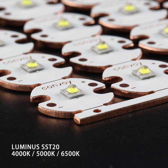 luminus SST20 2700K 4000K 5000K 6500K on 16mm / 20mm DTP copper board