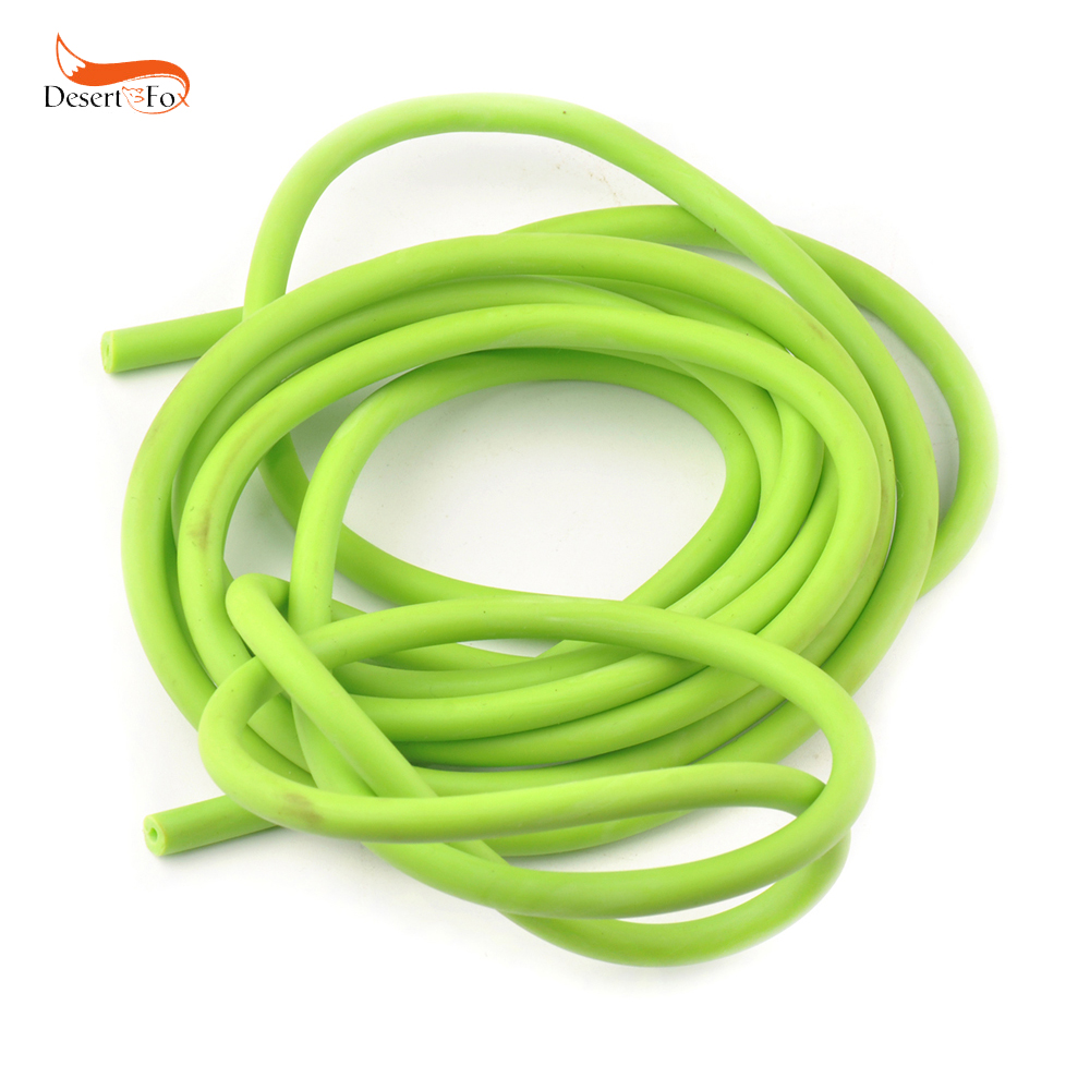 Sporting Natural Latex Tube Slingshot 5mm*5/10M Green Color Replacement Band for Hunting Sling Shot Catapults Slings Rubber