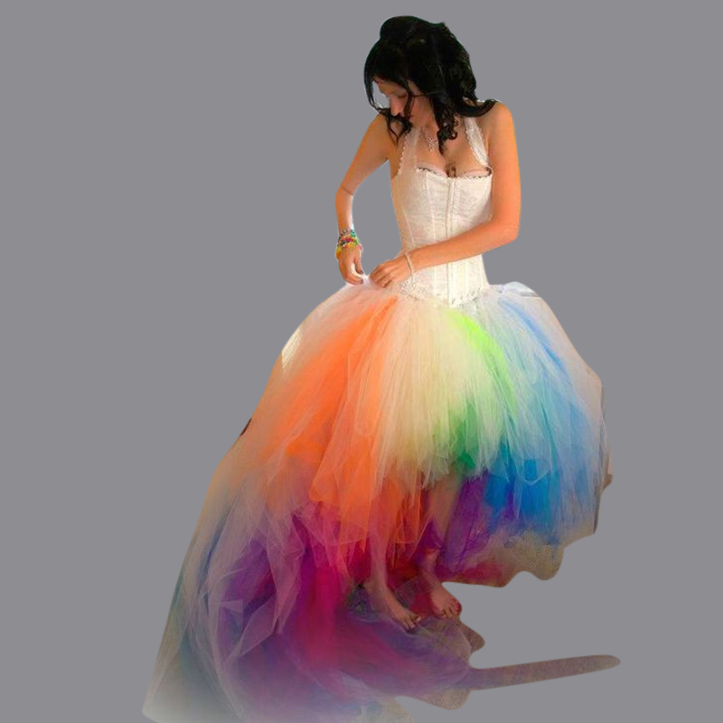 Online Buy Wholesale rainbow wedding dress from China rainbow