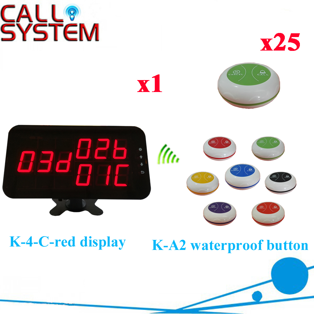 K-4-c-red+K-A2-Wgreen  1+25  Waiter Calling Paging System