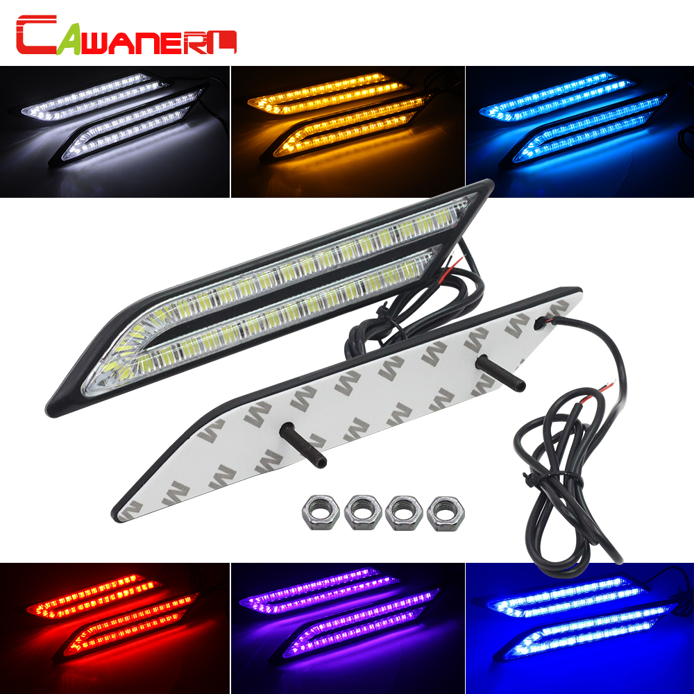Cawanerl Car LED Daytime Running Light Fog Lamp DRL 33 LED Beads 12V High Power For Ford Toyota Mazda Renault Honda BMW Audi