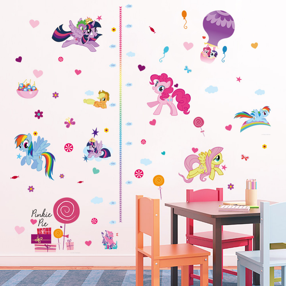 Diy cartoon horse height measure growth chart wall sticker for kids diy cartoon horse height measure growth chart wall sticker for kids room butterfly flora nursery girl bedroom decor art in wall stickers from home garden geenschuldenfo Image collections