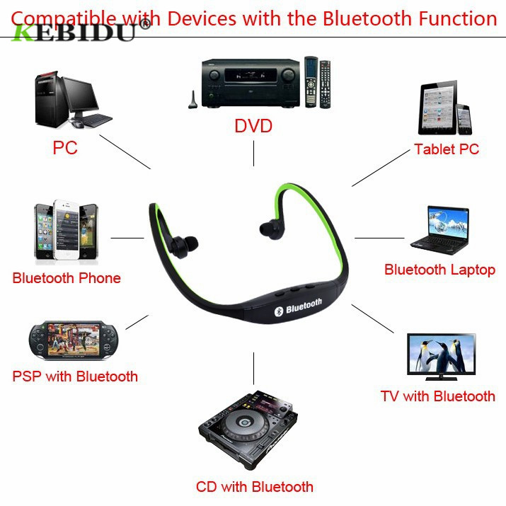 US $2 79 29% OFF Kebidu S9 Original Sport Wireless Bluetooth Headset  Handsfree Earphones Running Stereo Headphones NO Support TF/SD Card  Handfree-in