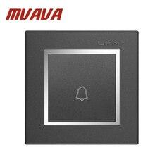 MVAVA Push Bottom Door bell switch,EU UK Standard Luxury Chromed Frame Gray color PC material panel , 110-250V, Free Shipping