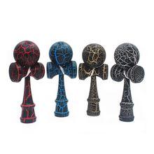 Деревянные шары Kendama, балансирующие игрушки, красочные трещины, поверхность из бука, для детей и взрослых, для активного отдыха, для снятия стресса
