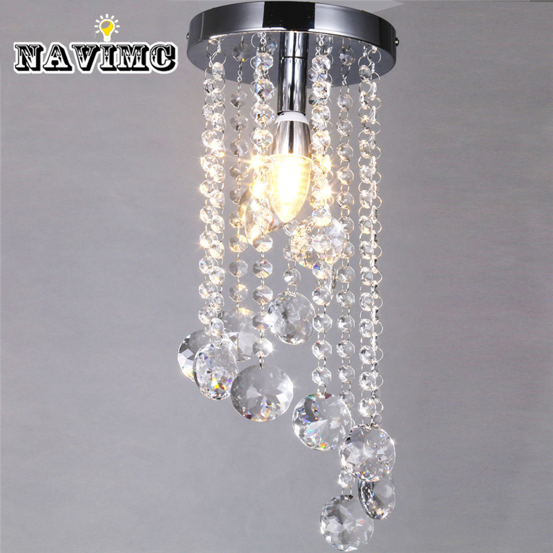 Fancy Kitchen Ceiling Lights: Modern Surface Mounted Led Crystal Ceiling Lights Fixture