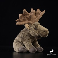 Toys Children Gifts Simulation Moose Doll Stuffed Animals Plush Toy Super Soft Squatting rare