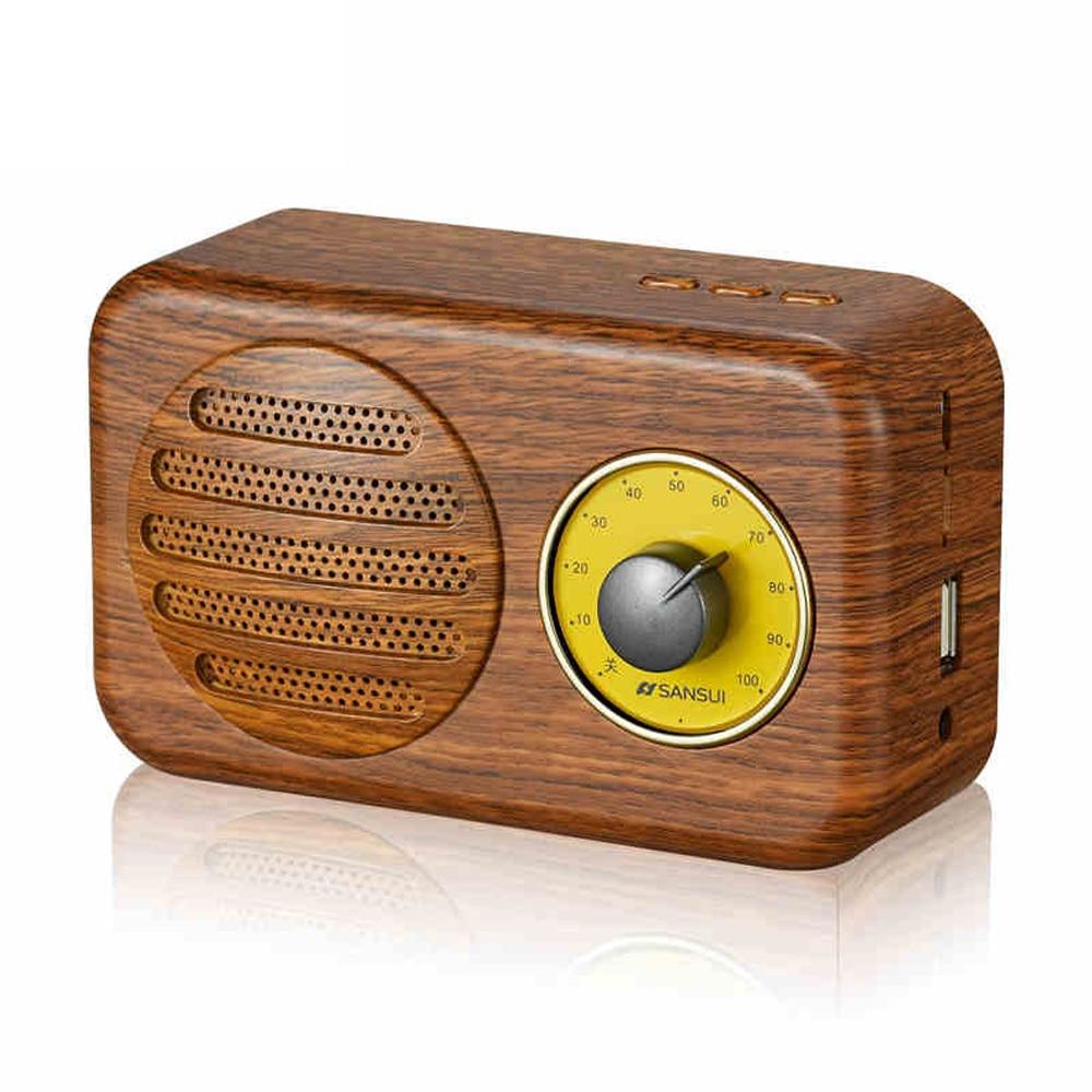 Vintage Bluetooth Speaker Wireless Portable Wireless Speaers Super Bass with Mic TF FM Radio USB Sound Box portable wireless bluetooth column speaker stereo subwoofer support usb sound box tf fm radio with mic dual bass loudspeaker