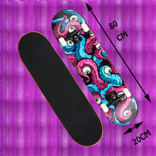 adult children skateboarding four wheel Complete cruiser board skateboard Maple deck skate road Sports Fitness Entertainment