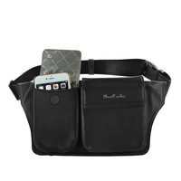 Pierre Cardin Genuine Leather Multi function Belt Clip Pouch For One Plus Oneplus 3 3T 5 5T 6 6T Mobile Phones Bags