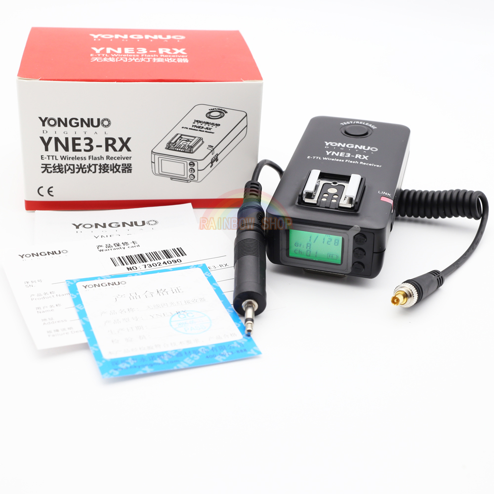YONGNUO YN-E3-RX YNE3 RX e-TTL Wireless Flash Receiver for YN568EX II,YN565EX II YN600EX-RT,for Canon 580EX II 600EX-RT,YNE3-RX аксессуар phottix strato ii receiver for canon 15656