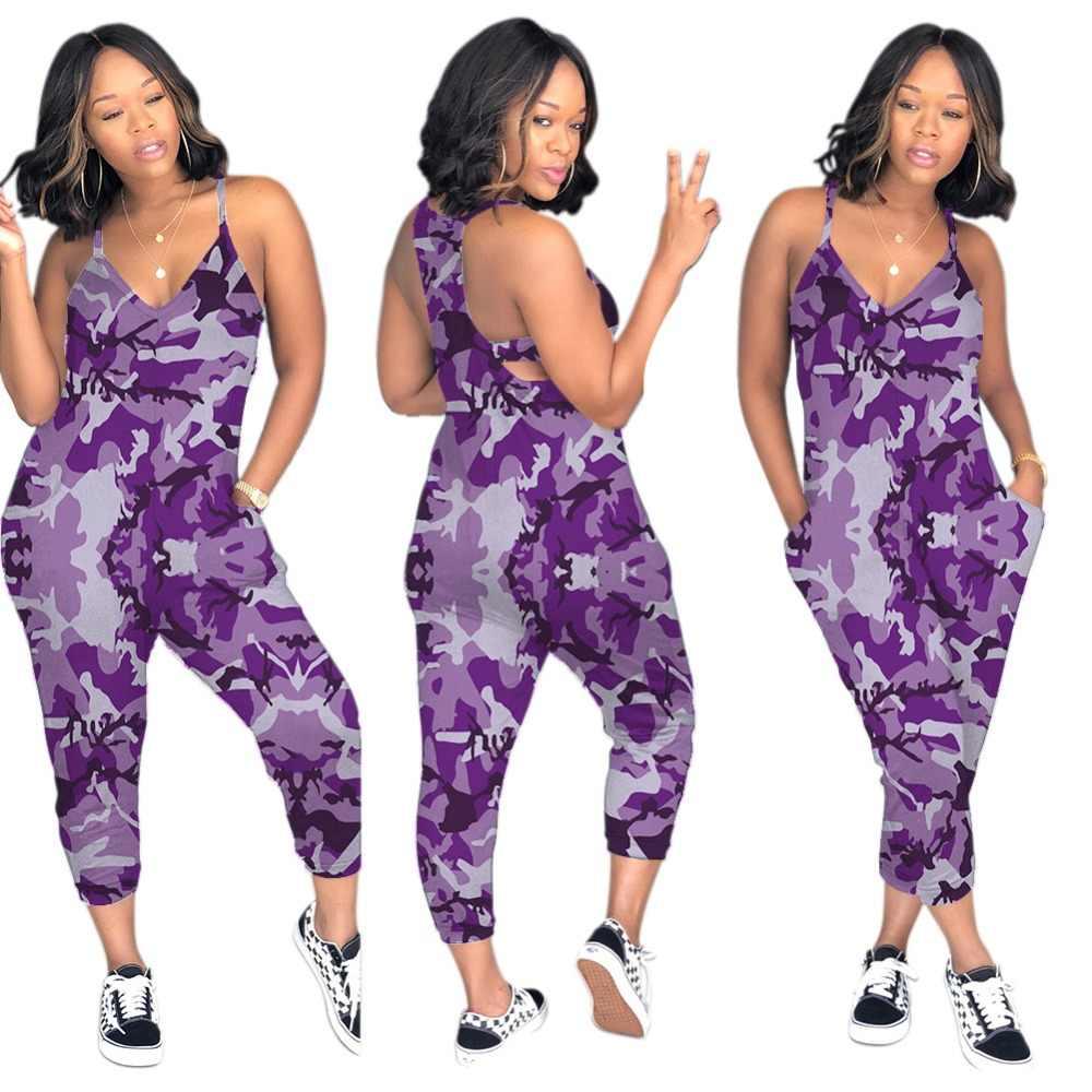 2019 begrenzte Verkauf Nylon Baumwolle Overall Frauen Körper Catsuit Europa Und Amerika Sexy Persönlichkeit Straße Camouflage Overall