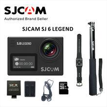 В наличии!! SJCAM SJ6 Легенда Двойной экран 4 К 24FPS «Сенсорный Экран Удаленного Действий Камеры 30 М водонепроницаемый NTK96660 16MP камера спорта