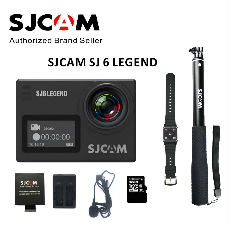 Original SJCAM SJ6 Legend Dual screen 4K 24FPS 2 Touch Screen Remote Action Camera 30M Waterproof