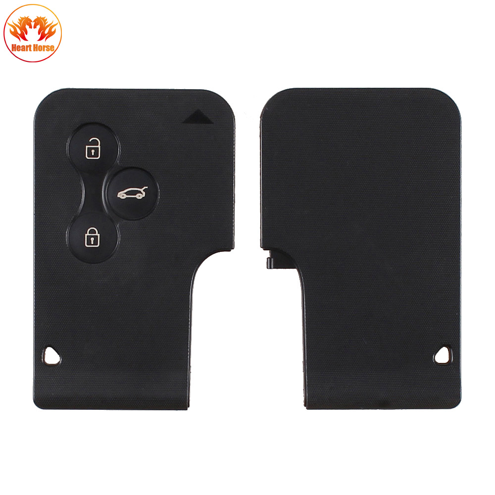 new 3 buttons key card case replacement remote key cover. Black Bedroom Furniture Sets. Home Design Ideas