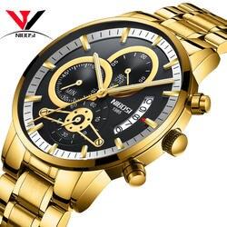 NIBOSI Relogio мужские спортивные часы для мужчин золото и черный для мужчин s часы лучший бренд класса люкс спортивные часы 2019 Reloj Hombre