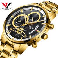 NIBOSI Relogio Masculino Watch Men Gold And Black Mens Watches Top Brand Luxury Sports Watches 2019 Reloj Hombre Waterproof