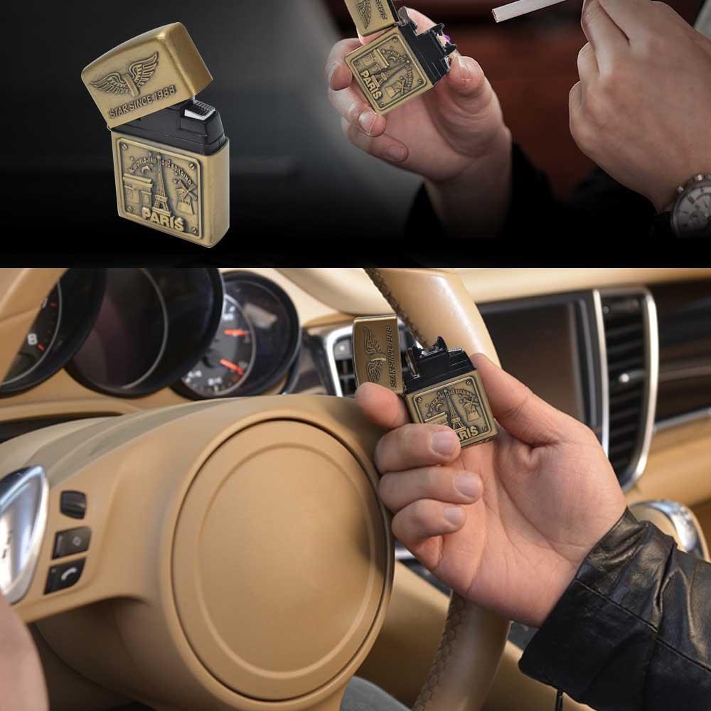 Мужской подарок Arc зажигалки металлический USB Перезаряжаемый беспламенный Электрический ветрозащитный прикуриватель сигарная зажигалка