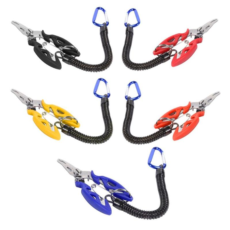 Multifunctional Fish Line Cutter Plier Fishing Lanyards Boating Ropes Kayak Camping Secure Pliers Lip Grips Tackle Fish Tools