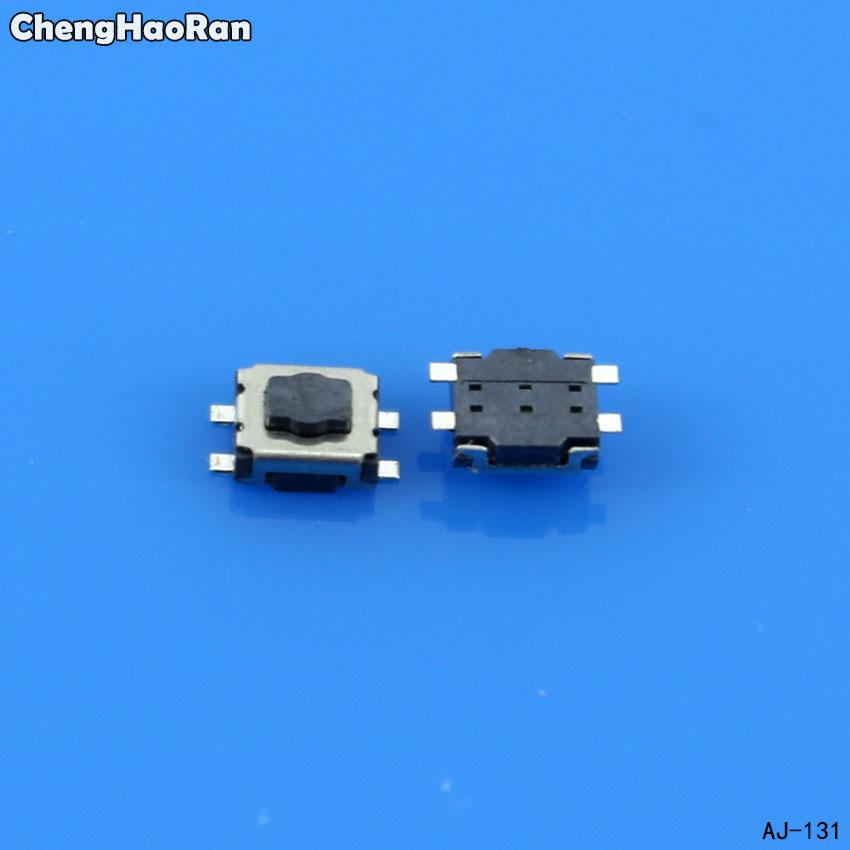 ChengHaoRan 10PCS 3*4mm Car Key Switch Button For Peugeot 307 308 Citroen Triumph Sega Tactile Push Button, Microswitch Button
