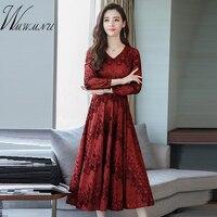 67586baa2 Elegant Women S Long Sleeve Party Dress Hot Sale Large Size 3XL Dresses  High Quality Print