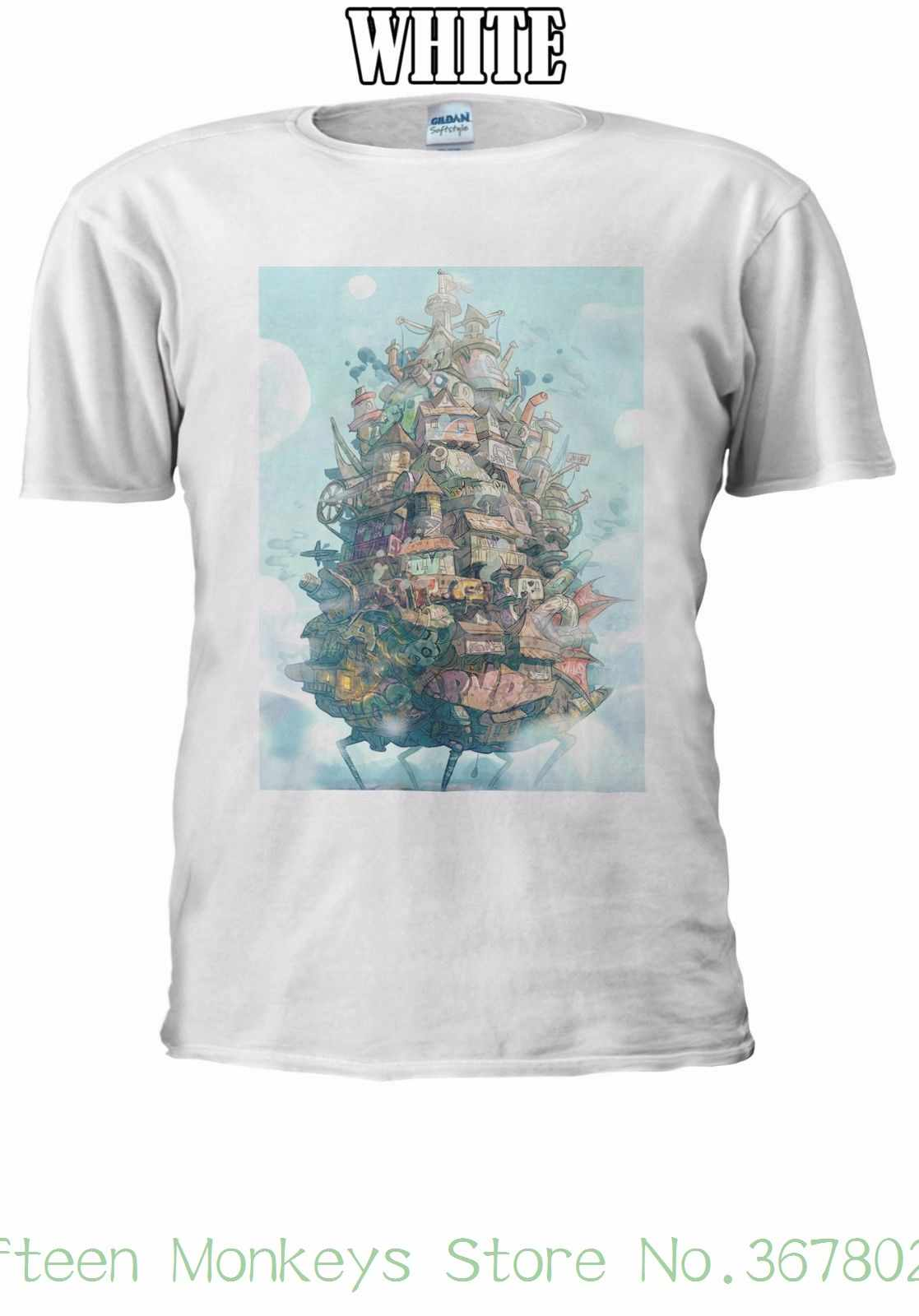Women's Tee Howl's Moving Castle Art T-shirt Men Women Unisex 2525 Design Tops Hot Sales clothing Shirts