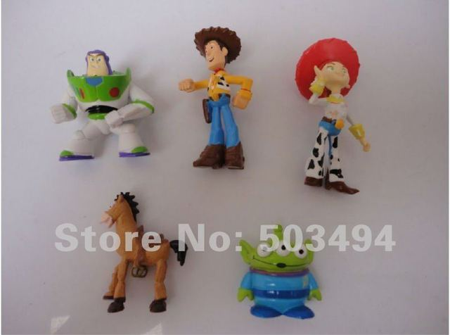 Retail 3SETs/lot Free shipping High Quality PVC Toy Story 3 Woody Jessie Buzz Figures Set New 6CM