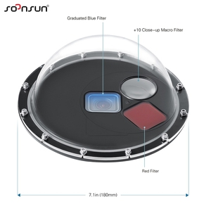 Image 4 - SOONSUN 60M Diving Filter Switchable Dome Port Waterproof Housing Case w/ Trigger for GoPro HERO 7 6 5 Black Go Pro 7 Accessory
