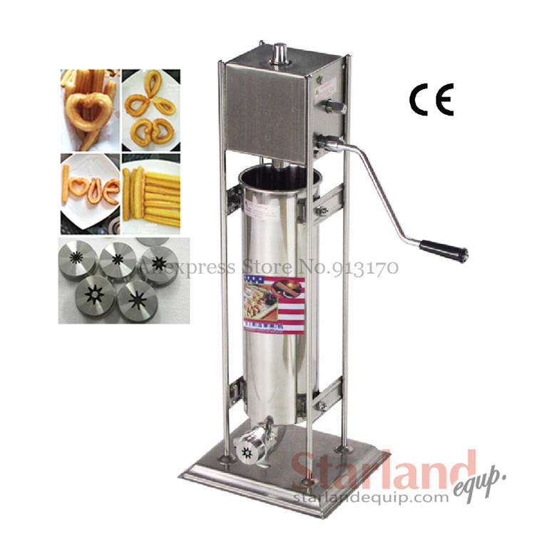 Commercial Deluxe stainless steel Manual Spanish Churros Machine hand-operated Churros Maker Capacity 7 Liters 12l automatic churros machine maker spanish snacks latin fruit machine