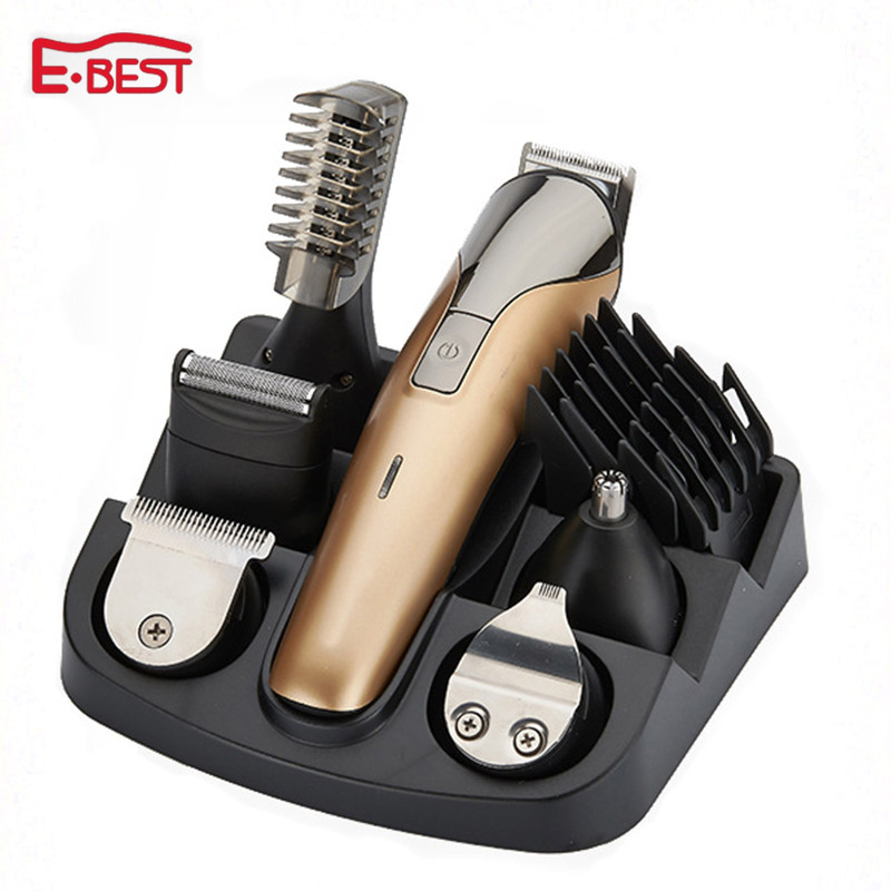 6 in1 electric titanium hair cutting machine rechargeable hair clipper hair trimmer beard trimmer hair cut