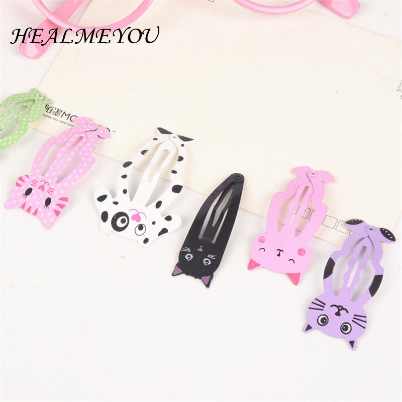 2017 6pcs lot  Women Animal Hairpin headwear kid's barrettes Hair clips Jewelry Snap Clips Children Hair Accessories cheap 1pcs women headwear scissors comb hair clip hair accessories headpiece hairpin headwear gold silver color drop shipping