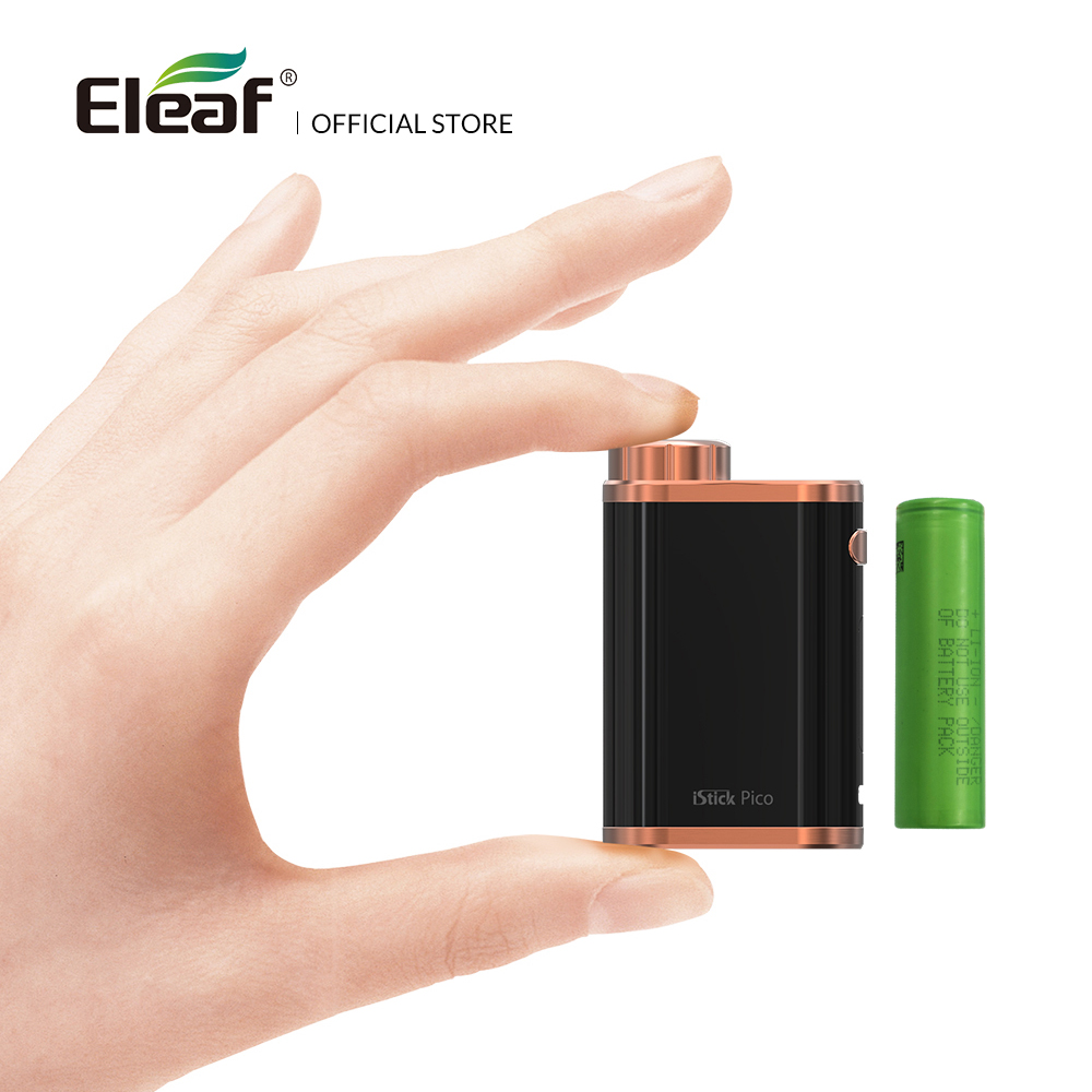 Original Eleaf iStick Pico Mod 75w fit with melo 3/melo 3 mini atomizer with 18650 battery vape mod Electronic Cigarette original 75w eleaf istick pico tc box mod vape vaporizer temp control mod e cig no 18650 battery fit melo 3 melo 3 mini atomizer