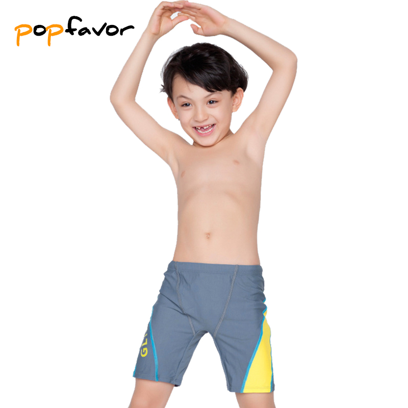 POPFAVOR Boys Swimsuit Trunks Clothing Shorts Kids Children Black Patchwork Brand