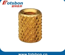 STKB-0616-24 Thru-Threaded  Molded-in   Insert , Kunrled brass ,nature,PEM standrad,Made in China,