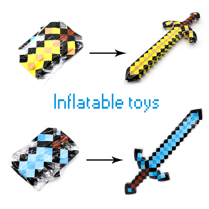 NEW High Quality Balloon Swords Perfect Minecraft Swords Diamond Balloons Sword Action Party Toy Christmas Gifts Kids Minecraft кошелек minecraft sword