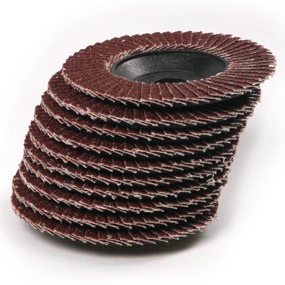 Nauji 10 vnt / rinkinio šlifavimo disko švitrinis 4 '' elektrinis kampinis šlifuoklis, atverčiamo tipo šlifavimo diskų priedai, sukamasis įrankis 100x3x16mm