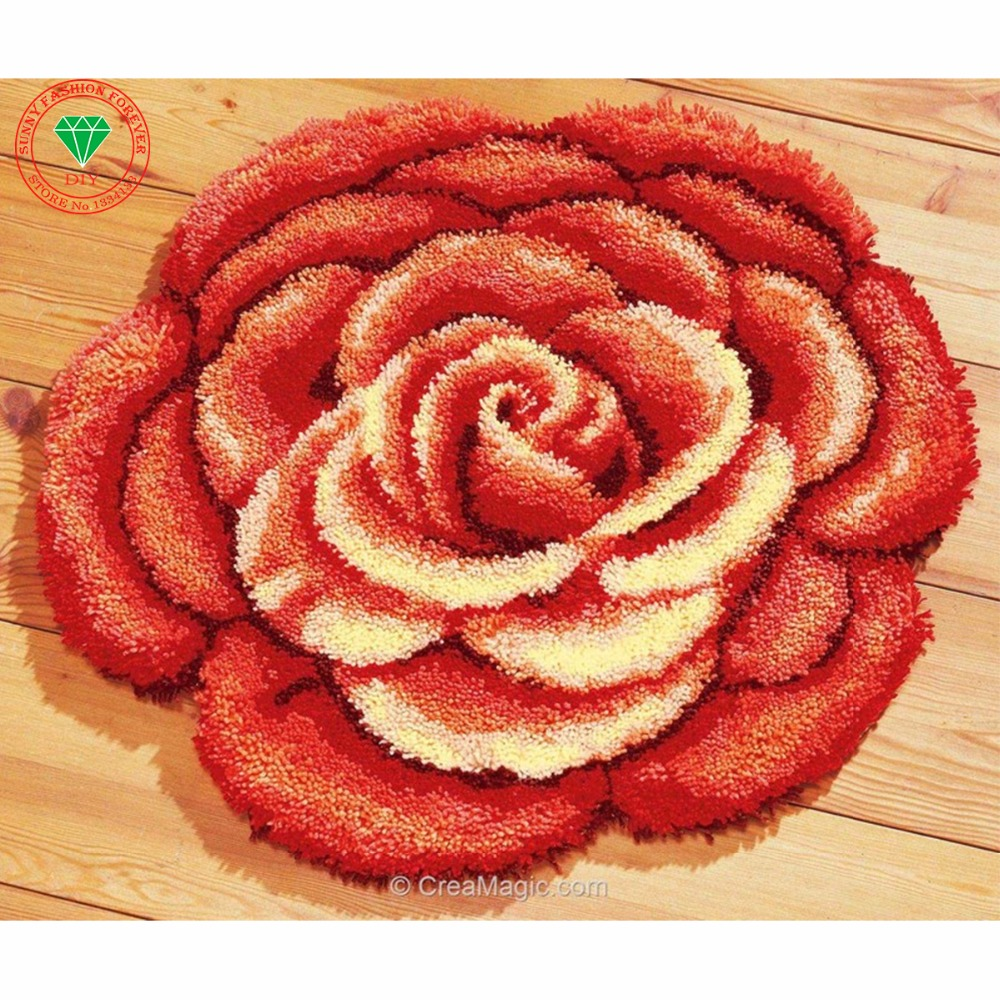 Hobby Needlework Latch hook rug kit Flower karpet Patchwork carpet Knitting cross-stitch Carpet embroidery stitch thread cushionHobby Needlework Latch hook rug kit Flower karpet Patchwork carpet Knitting cross-stitch Carpet embroidery stitch thread cushion