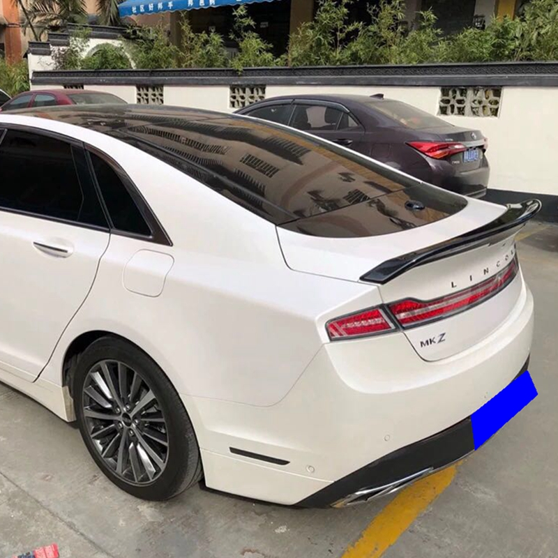 For Lincoln MKZ spoiler ABS material Primer and baking paint Car Rear Wing Trunk Lip Spoiler
