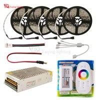 LED Strip set DC12V RGB RGBW 5050 ip65 Waterproof Flexible Led Light + RF Remote Controller + Power adapter Kit 20M 15M 10M 5M