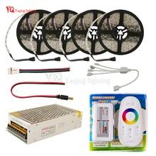 Conjunto DC12V RGB RGBW Tira CONDUZIDA 5050 ip65 Impermeável Flexível do Diodo Emissor de Luz + RF Controle Remoto + Power adapter Kit 20 M 15 M 10 M 5 M