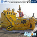 Inflatable Biggors Commercial Use Inflatable Ship Bounce House Castle With Slide Shipping by Sea