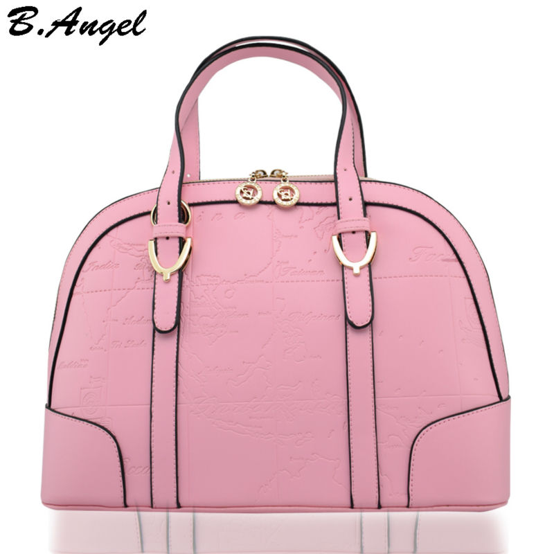 High-quality-candy-color-world-map-women-bag-fashion-women-messenger-bags-famous-brand-designer-handbags