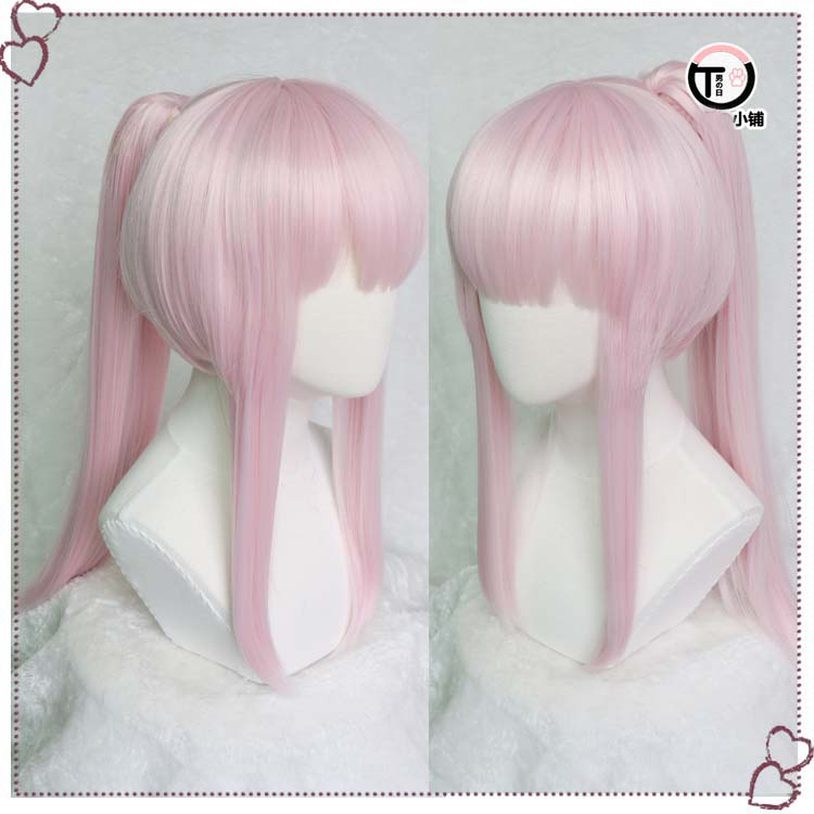 DARLING in the FRANXX Zero Two 02 Wig Pink Ponytail Cosplay Wig