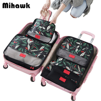 6Pcs Set Packing Cube Travel Bags Portable Large Capacity Clothing Sorting Organizer Luggage Accessories Supplies Products