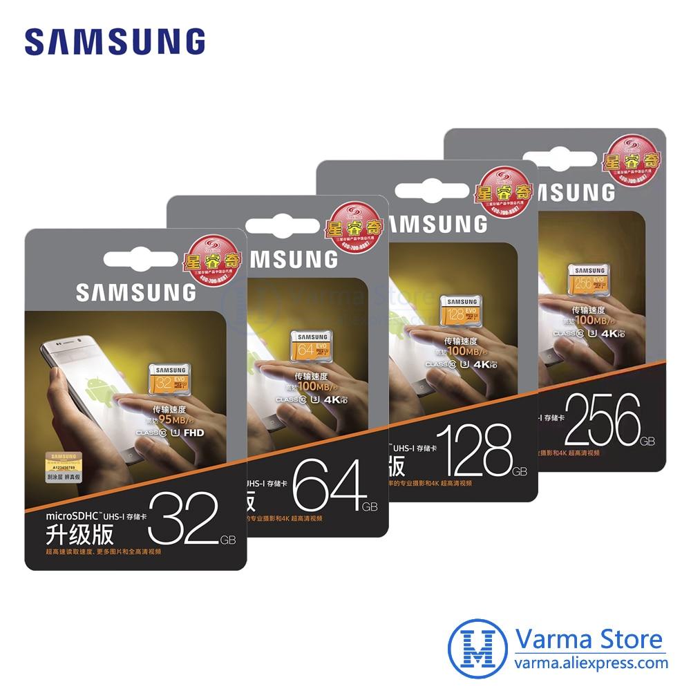Samsung tf card MB-MP EVO micro SD flash memory card UHS-I 32GB/U1 64GB/U3 128GB/256GB U3 Class10 4K microSDHC microSDXC samsung new evo memory card 16gb 32gb sdhc 64gb 128gb 256gb sdxc tf flash card micro sd cards uhs i class10 c10 u3 free shipping